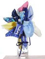 Fabric Bouquets - Blues