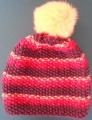 Hat Trix Seed Stitch Striped Hat