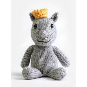 Blue Sky Fibers Royal Petite Knit Kits - Baby Series kits Rene Rhinoceros