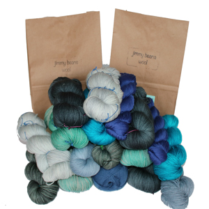 Jimmy Beans Wool Fingering Mystery Yarn Grab Bags yarn Blues