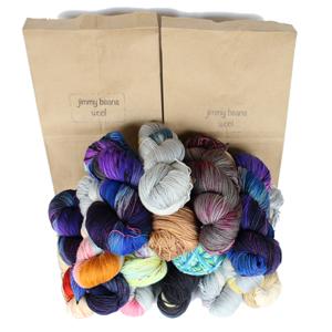 Jimmy Beans Wool Fingering Mystery Yarn Grab Bags yarn Mystery