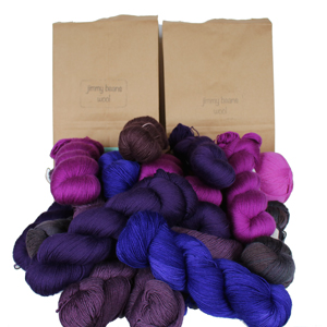 Jimmy Beans Wool Fingering Mystery Yarn Grab Bags yarn Purples