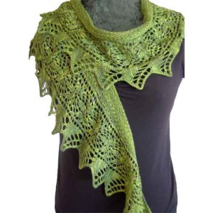 Fiber Dreams Patterns - Birdsfoot Fern Shawl