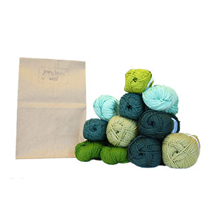 Jimmy Beans Wool Worsted Mystery Yarn Grab Bags yarn Greens