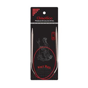 ChiaoGoo Knit RED Circular Needles needles US 7 (4.50mm) - 24