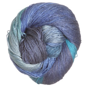 Hand Maiden Swiss Mountain Sea Silk yarn Frozen Ocean