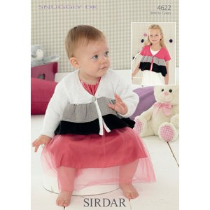 Sirdar Snuggly Baby and Children Patterns 4622 Ruffled Cardigans