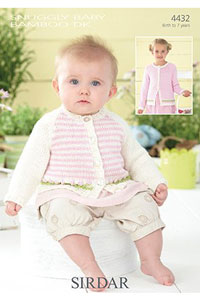 Sirdar Snuggly Baby and Children Patterns 4432 Rose Cardigan