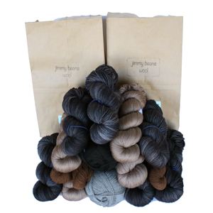 Jimmy Beans Wool Fingering Mystery Yarn Grab Bags yarn Neutral