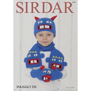 7c435effb Sirdar Snuggly Baby and Children Patterns - 2471 Gloves, Hat & Scarf Set  Pattern
