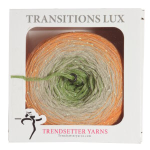 Trendsetter Transitions Lux yarn 115 Olive, Cream, Peach with Iris Metallic