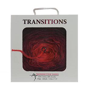 Trendsetter Transitions yarn 22 Wildfire-Black/Burgundy/Red
