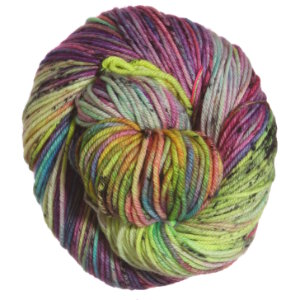 Madelinetosh Tosh DK Onesies yarn Electric Rainbow