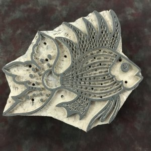 Wooden Printing Stamp - Fish (Pre-Order)