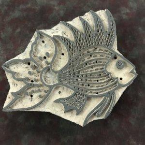 Wooden Printing Stamp - Fish (Pre-Order)