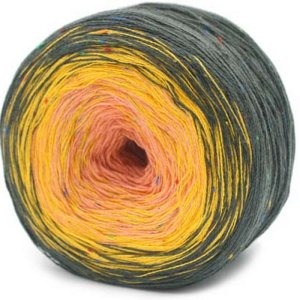Trendsetter Transitions Tweed yarn 66 Charcoal/Sunflower/Peach