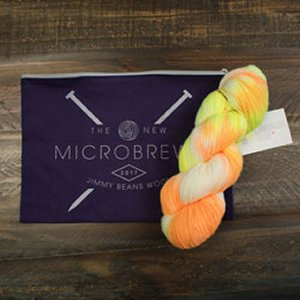 Jimmy Beans Wool A La Carte Micro-Brewed kits 2017 - The Lemonade Shop Simple Sock - Neon Candy Corn