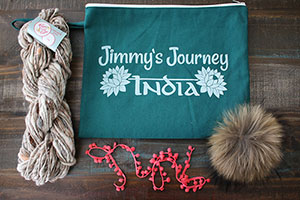 Knit Collage Cast Away Hat Kits kits Oak/Natural