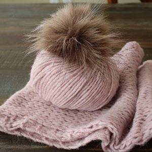 Rowan Victoria Scarf Kit - Dawn (Pink)