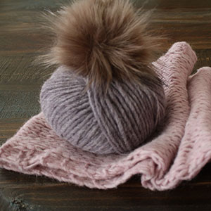 Rowan Victoria Scarf Kit - Hush (Dusty Purple)