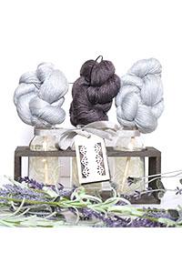 Jimmy Beans Wool Malabrigo Yarn Bouquets kits Blueshift Loop Bouquet - Pearl Ten/Polar Morn