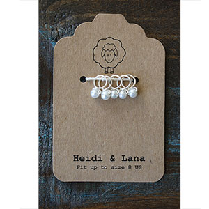 Heidi and Lana Stitch Markers Small Silver - Lace