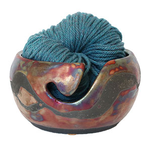 LickinFlames Yarn Bowl Medium - Foggy Dew River