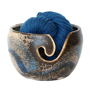 LickinFlames Yarn Bowl Medium - Obvara Blue