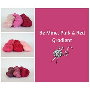 Koigu KPM Solid Grab Bags yarn Be Mine, Pink & Red Gradient