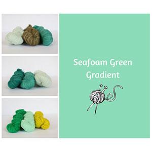Koigu KPM Solid Grab Bags yarn Seafoam Green Gradient