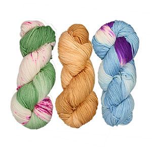 Delicious Yarns Fresh Baked Yarn Club yarn '18 Spring - Green Apple Raspberry/Nutmeg/Macaron
