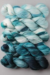 SweetGeorgia Tough Love Sock Joji Locatelli Fading Point Wrap kits Storm Crow (Ships Late May)
