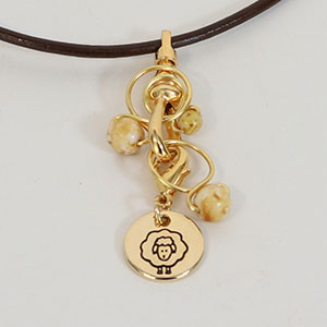 Heidi and Lana Stitch Marker Necklace Gold Caramel