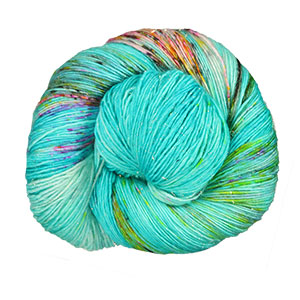 Madelinetosh Tosh Merino Light + Holo Glitter yarn Hydroponic