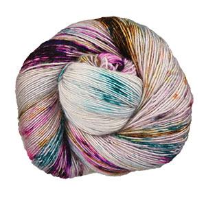 Hedgehog Fibres Skinny Singles yarn Iris