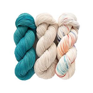 SweetGeorgia Tullameen Mystery Knit-Along kits Eldon