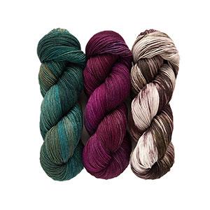 SweetGeorgia Tullameen Mystery Knit-Along kits Rowle