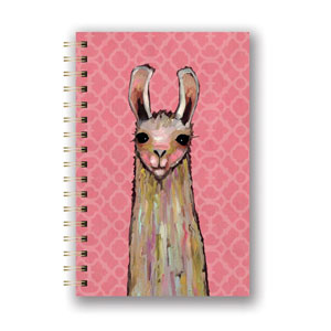 Studio Oh! Llama Accessories - Eli Halpin Collection Spiral Notebook - Medium La-La-La Llama