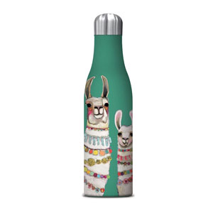Studio Oh! Llama Accessories - Eli Halpin Collection Water Bottle - Medium (17oz) Boho Llama Duo