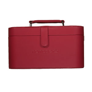 Namaste Knitter's Train Case Cranberry