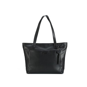Namaste Knitter's Tote Bag Black