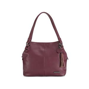 Namaste Knitter's Shoulder Bag Plum