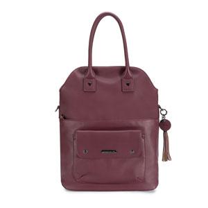 Namaste Knitter's Foldover Bag Plum