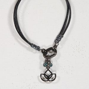 Heidi and Lana Stitch Marker Bracelets L/XL Gunmetal - Namaste Teal