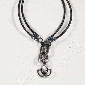 Heidi and Lana Stitch Marker Bracelets S/M Gunmetal - Namaste Grey