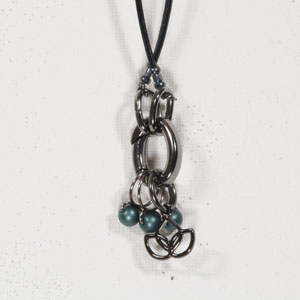 Heidi and Lana Stitch Marker Necklace Gunmetal - Namaste Teal