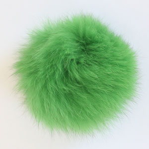 Jimmy Beans Wool Fur Pom Poms Green - Tie (5