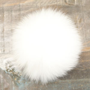 Jimmy Beans Wool Fur Pom Poms White - Snap (5