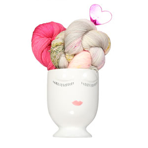Jimmy Beans Wool Urban Reflection Wrap Bouquet - Crochet kits Light of Love - with Celfie Vase (Ships 2/1)