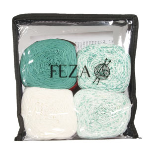 Feza Yarns Baby Gradient yarn 519 Deep Teal